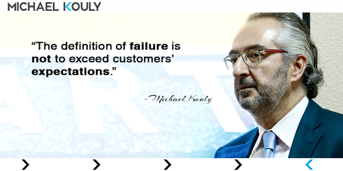 Michaelkouly quotes definition failure not exceed customers expectations