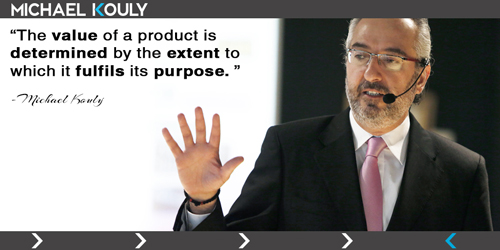 Michaelkouly quotes value product fulfills purpose