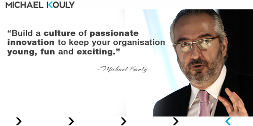 Michaelkouly Strategy culture passionate innovation fun exciting
