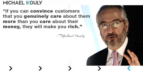 Michaelkouly quotes customer care rich genuine convince