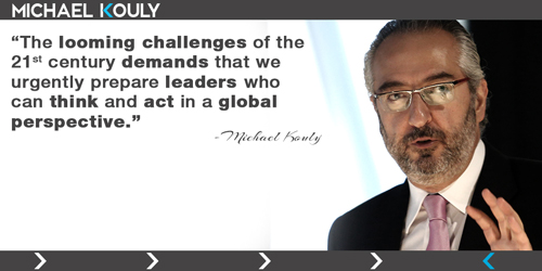 Michaelkouly quotes challenges 21st century leaders  Global act perspective