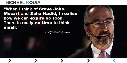 Michaelkouly quotes leadership steve jobs mozart zaha hadid expire think small